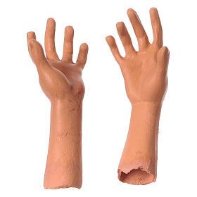 Testa mani e piedi per statua donna presepe 35 cm s4