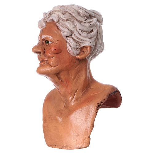 Testa mani e piedi per statua donna presepe 35 cm 2
