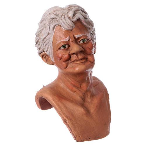Testa mani e piedi per statua donna presepe 35 cm 3
