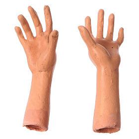 Testa mani piedi Donna Anziana 35 cm occhi in vetro s4