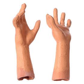 Mani testa piedi terracotta 35 cm Donna capelli bianchi  s4