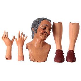 Mani testa piedi terracotta Pastorella 35 cm s1