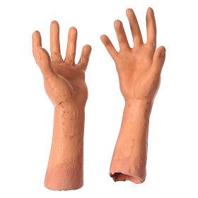 Mani testa piedi terracotta Pastorella 35 cm s4