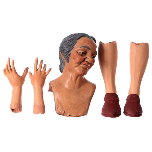 Mani testa piedi terracotta Pastorella 35 cm 1