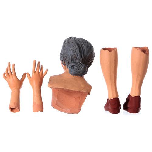 Mani testa piedi terracotta Pastorella 35 cm 6