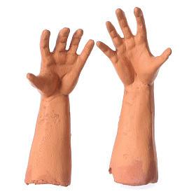 Testa occhi di vetro mani piedi Pastore 35 cm s4