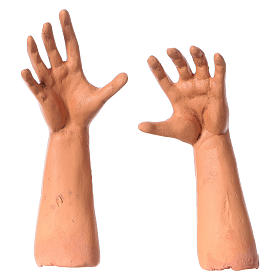 Set mani testa piedi occhi vetro Meravigliato 35 cm s4