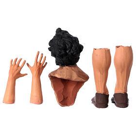 Set mani testa piedi occhi vetro Meravigliato 35 cm s6