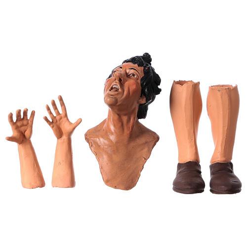 Set mani testa piedi occhi vetro Meravigliato 35 cm 1