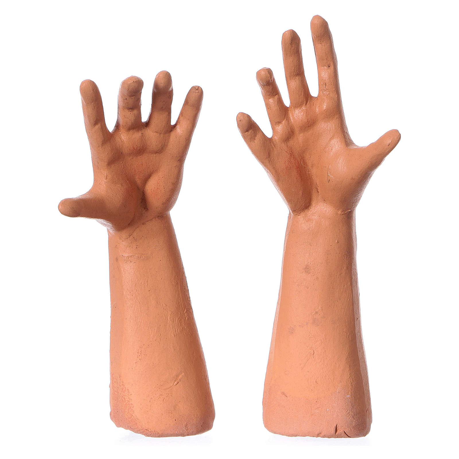 Testa mani piedi 35 cm Uomo con berretto 4