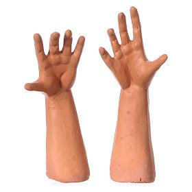 Testa mani piedi 35 cm Uomo con berretto s4