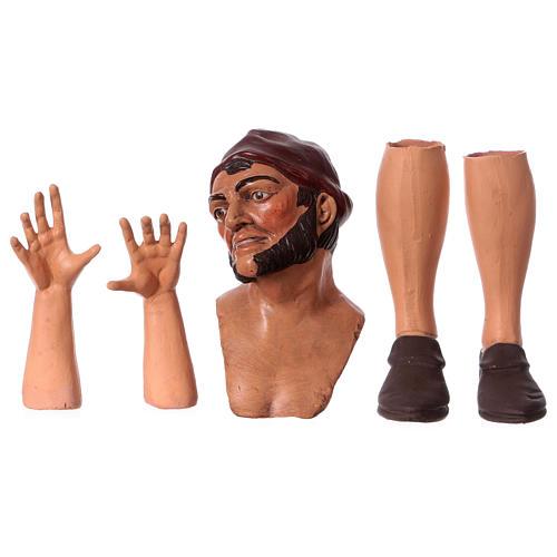 Testa mani piedi 35 cm Uomo con berretto 1