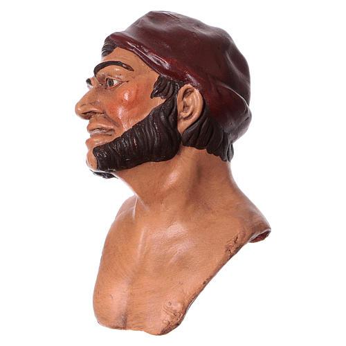 Testa mani piedi 35 cm Uomo con berretto 2