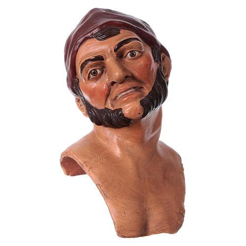 Testa mani piedi 35 cm Uomo con berretto 3