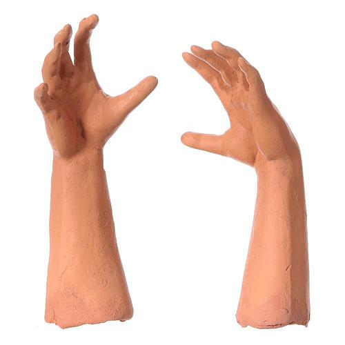 Testa occhi di vetro mani piedi 35 cm Pastore Giovane 4