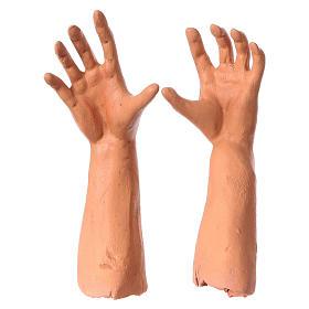 Mani testa piedi terracotta 35 cm Pastore giovane s4