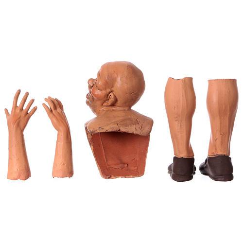 Teste mani e piedi per pastore calvo 35 cm 6