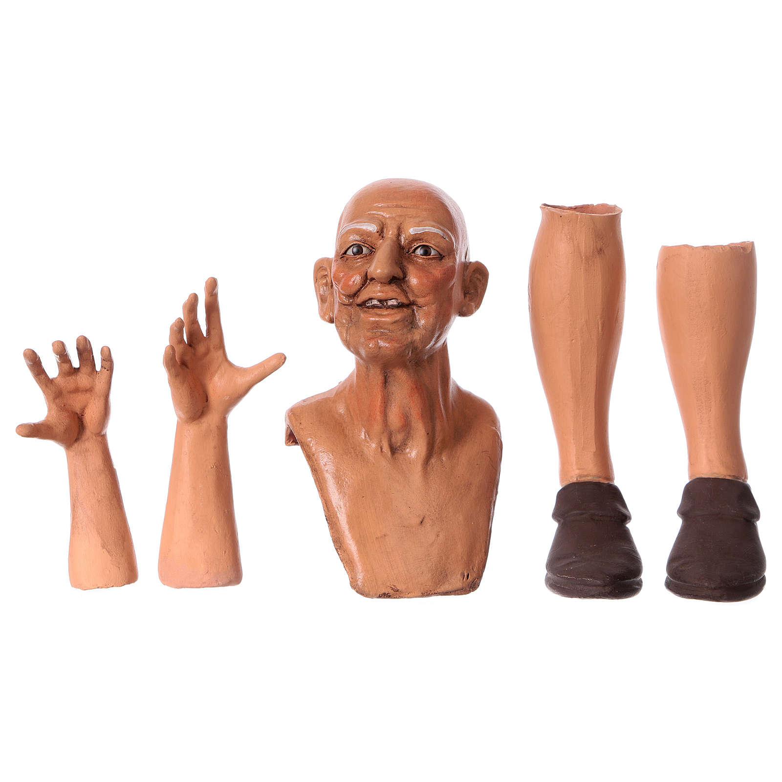 Set mani testa e piedi presepe napoletano 35 cm 4