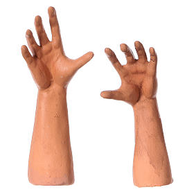 Set mani testa e piedi presepe napoletano 35 cm s4