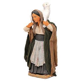 STOCK Donna vestita con pecora terracotta 18 cm Presepe Napoletano s3
