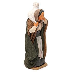STOCK Donna vestita con pecora terracotta 18 cm Presepe Napoletano s4