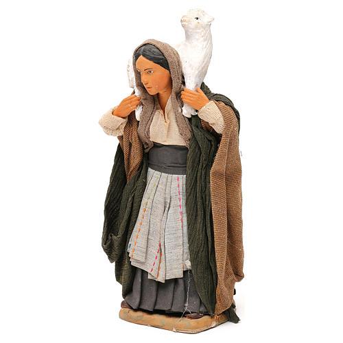 STOCK Donna vestita con pecora terracotta 18 cm Presepe Napoletano 3