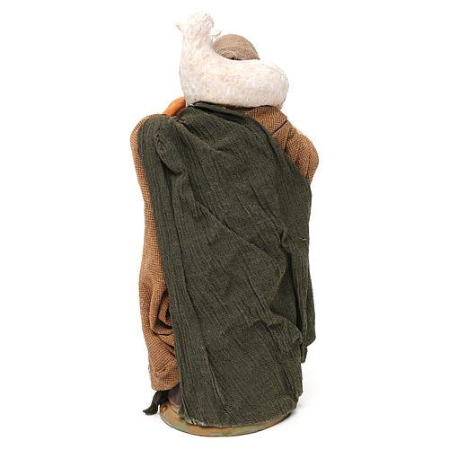 STOCK Donna vestita con pecora terracotta 18 cm Presepe Napoletano 5
