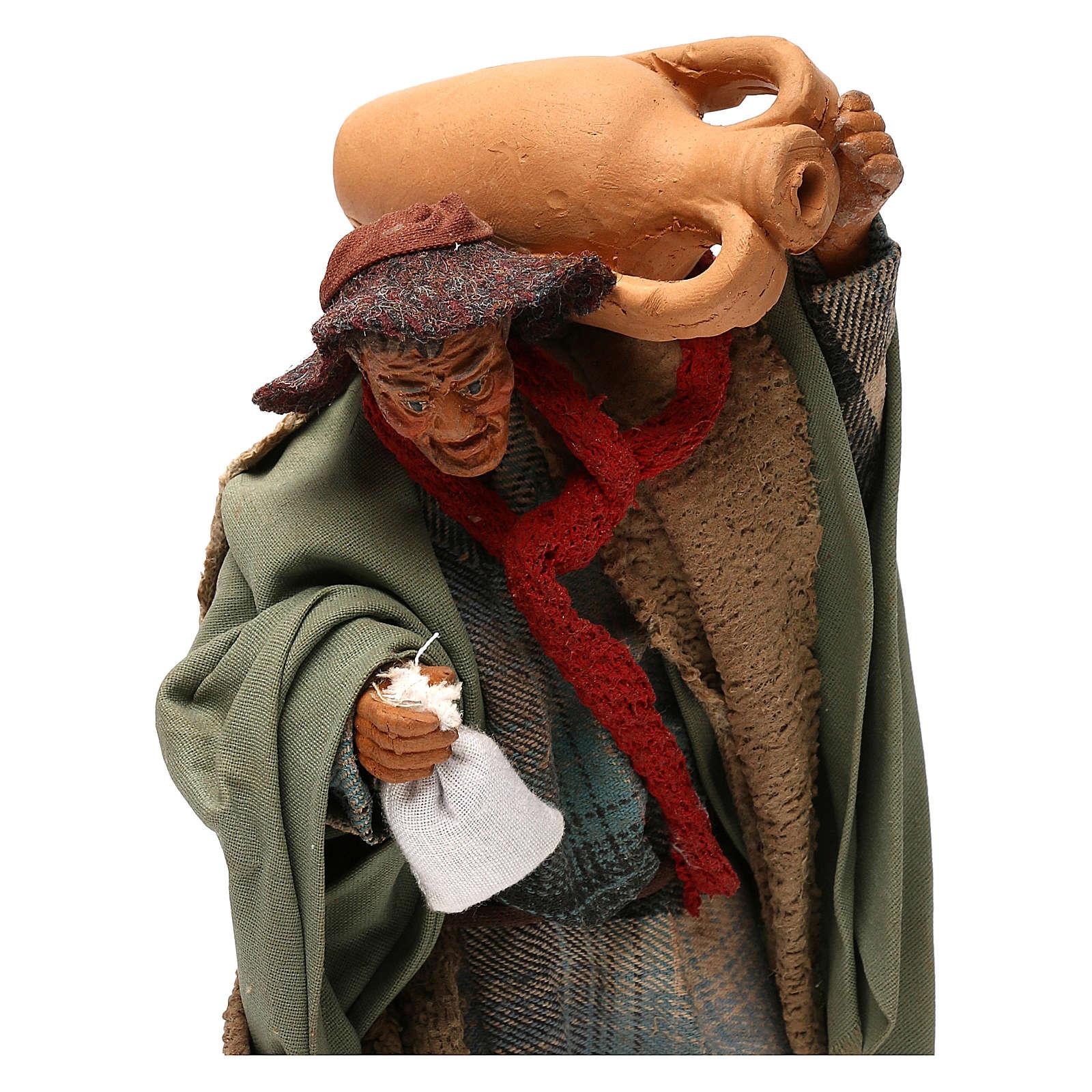 STOCK Pastore con anfora vestito in terracotta 18 cm Presepe Napoletano 4