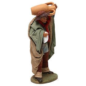 STOCK Pastore con anfora vestito in terracotta 18 cm Presepe Napoletano s4