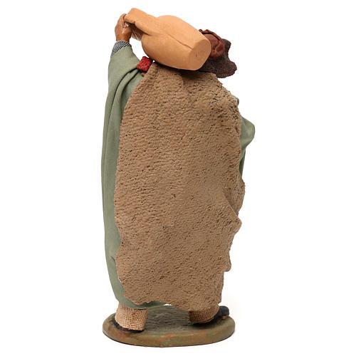 STOCK Pastore con anfora vestito in terracotta 18 cm Presepe Napoletano 5