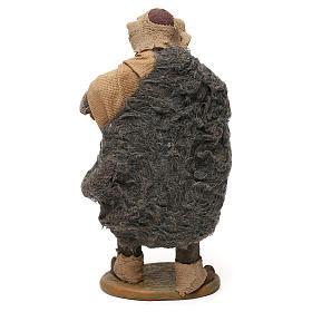 STOCK Pastor con barril vestido terracota de 18 cm Belén Napolitano s5