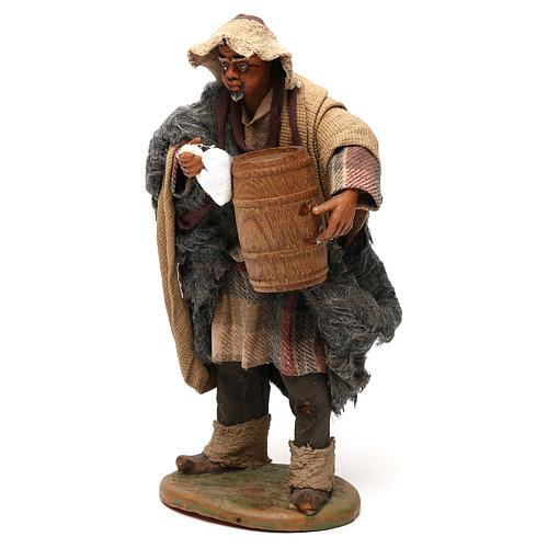 STOCK Pastor con barril vestido terracota de 18 cm Belén Napolitano 3