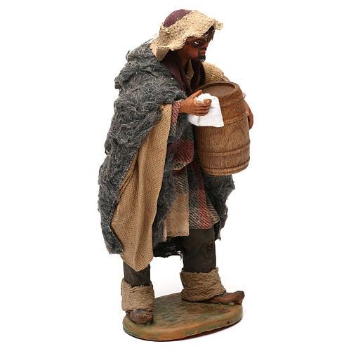 STOCK Pastor con barril vestido terracota de 18 cm Belén Napolitano 4
