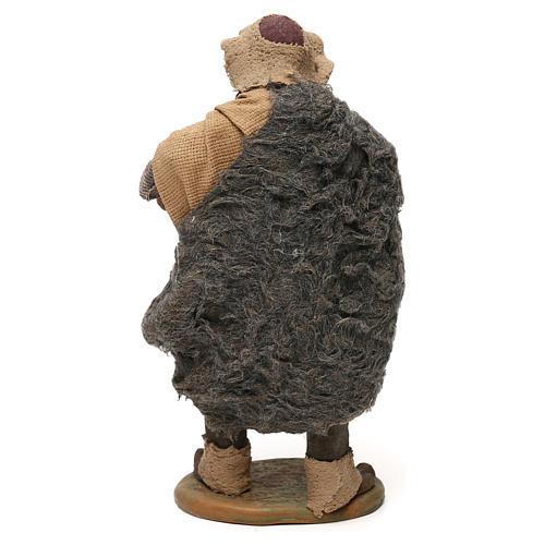 STOCK Pastor con barril vestido terracota de 18 cm Belén Napolitano 5