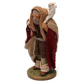 STOCK Pastore con pecora vestito in terracotta 10 cm Presepe Napoli s2