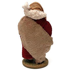 STOCK Pastore con pecora vestito in terracotta 10 cm Presepe Napoli s4