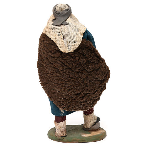 STOCK Flautista vestido terracota de 18 cm belén napolitano 5