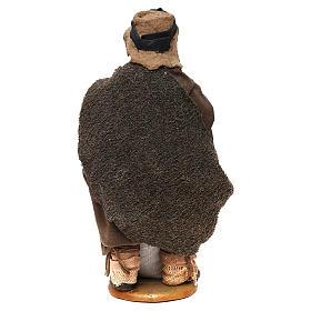 STOCK Pastore con pane vestito terracotta 18 cm presepe napoletano s5