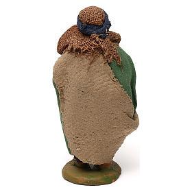 STOCK Pastore con cesto pesci vestito terracotta 10 cm Presepe Napoletano s4