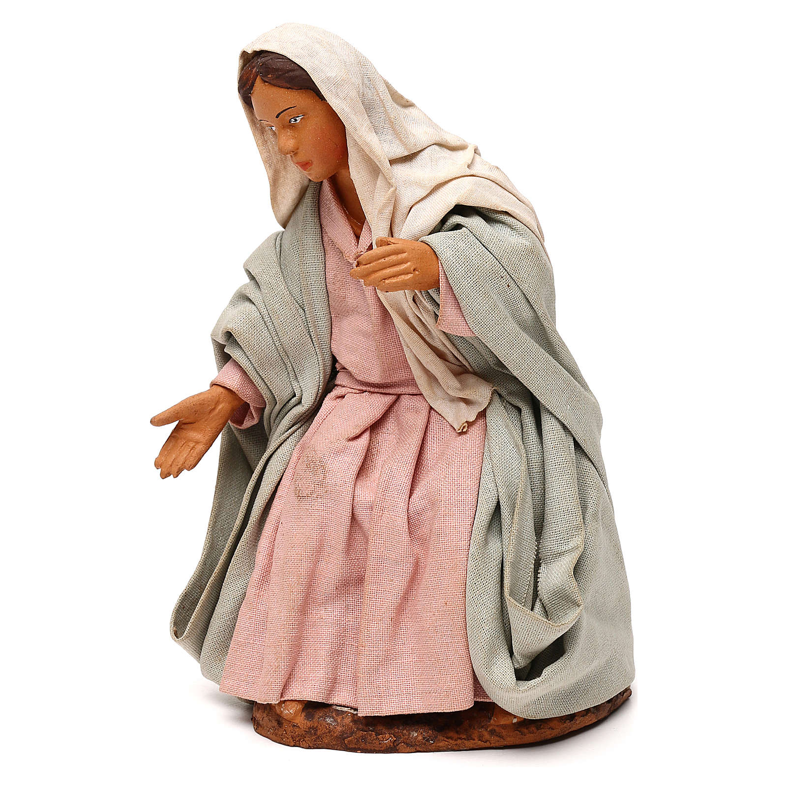 STOCK Madonna vestita terracotta 18 cm presepe napoletano 4