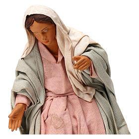 STOCK Madonna vestita terracotta 18 cm presepe napoletano s2