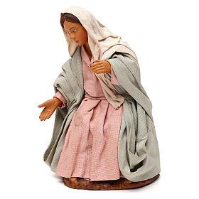 STOCK Madonna vestita terracotta 18 cm presepe napoletano s3