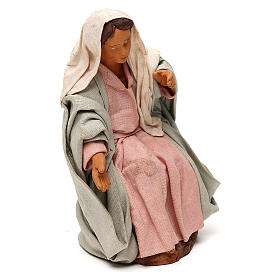 STOCK Madonna vestita terracotta 18 cm presepe napoletano s4
