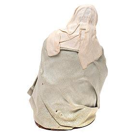 STOCK Madonna vestita terracotta 18 cm presepe napoletano s5