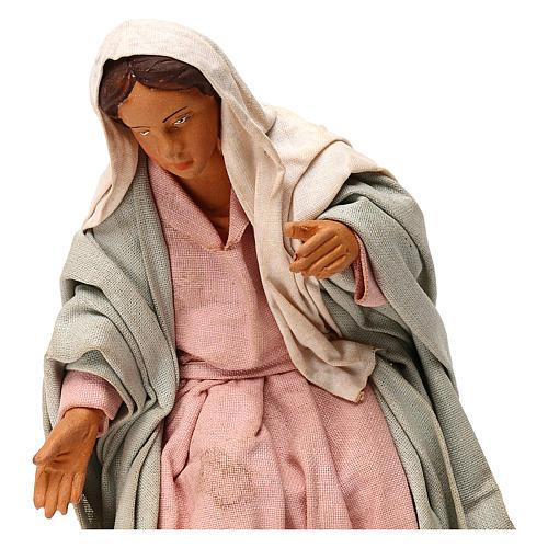 STOCK Madonna vestita terracotta 18 cm presepe napoletano 2
