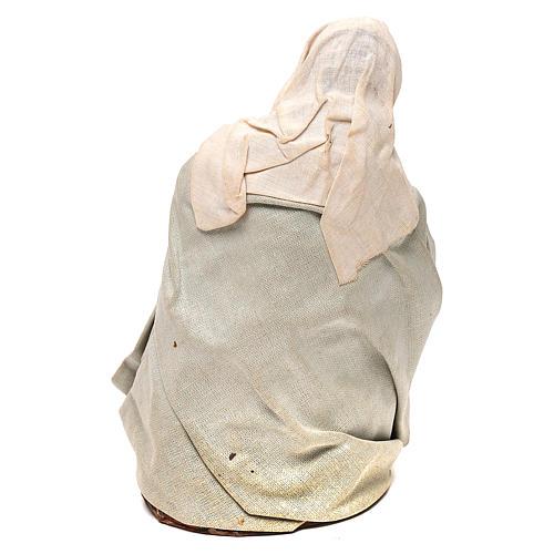 STOCK Madonna vestita terracotta 18 cm presepe napoletano 5