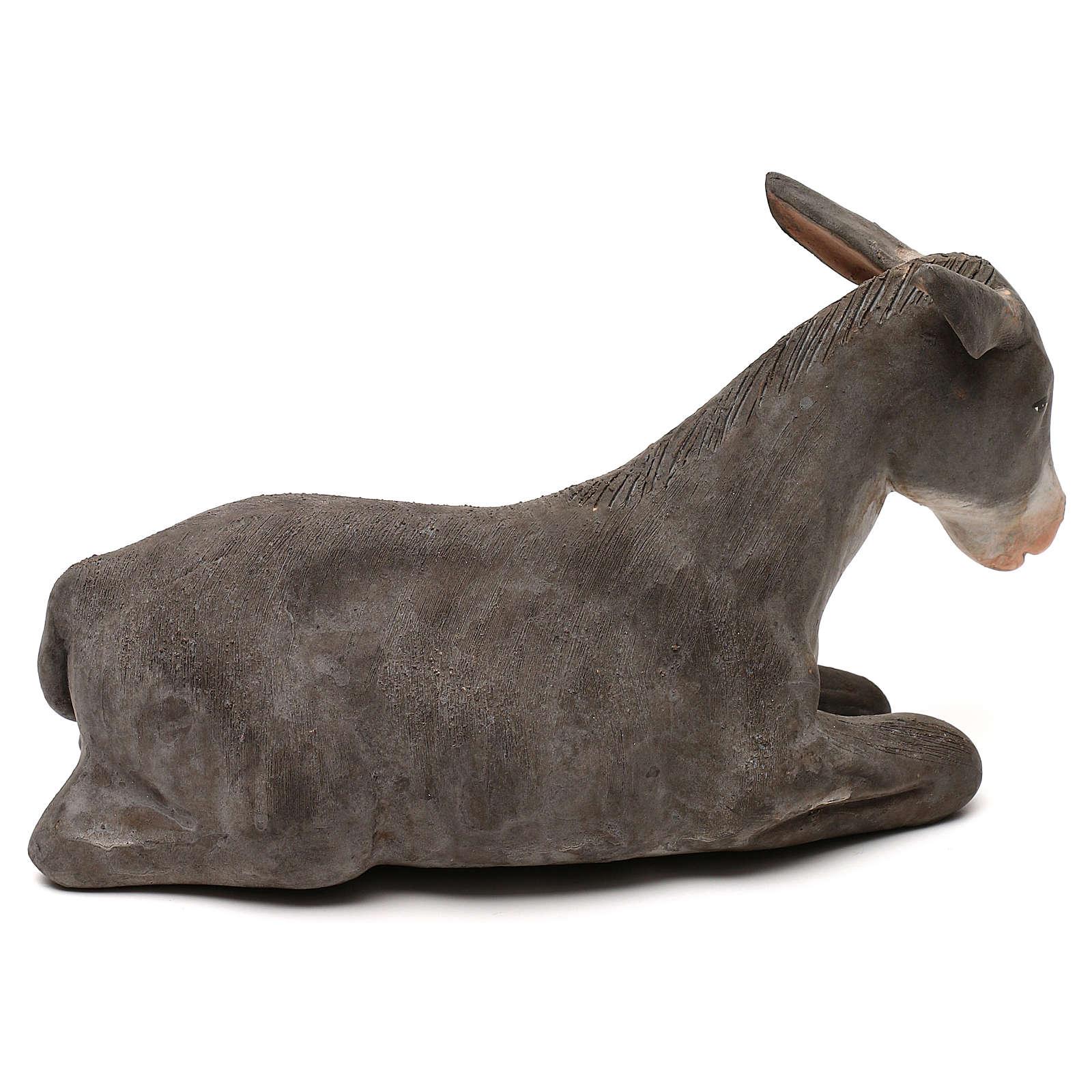 STOCK Burro de terracota de 18 cm belén napolitano 4