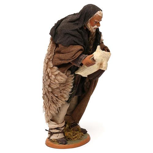 STOCK Zampognaro vestito in terracotta di 18 cm presepe napoletano 4