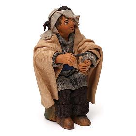 STOCK Uomo seduto vestito terracotta 10 cm presepe napoletano s3