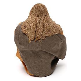 STOCK Donna seduta vestita con cucchiaio in terracotta cm 10 presepe napoletano s4